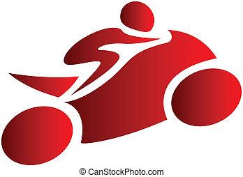 human riding a bike
