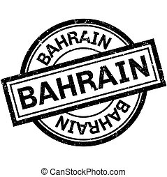 Bahrain rubber stamp. Grunge design with dust scratches....
