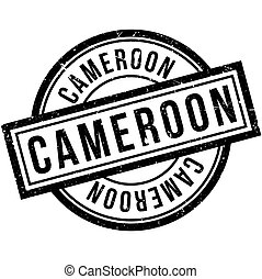 Cameroon rubber stamp. Grunge design with dust scratches....