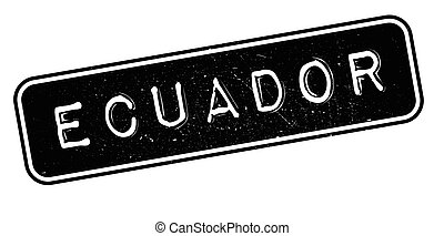 Ecuador rubber stamp. Grunge design with dust scratches....