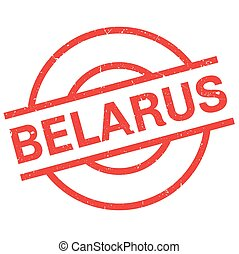 Belarus rubber stamp. Grunge design with dust scratches....