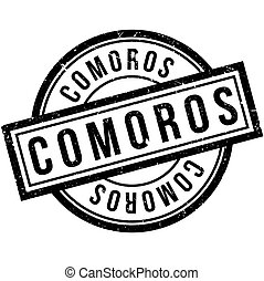Comoros rubber stamp. Grunge design with dust scratches....