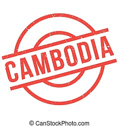 Cambodia rubber stamp. Grunge design with dust scratches....