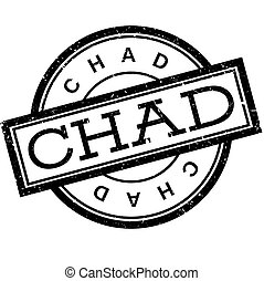 Chad rubber stamp. Grunge design with dust scratches....