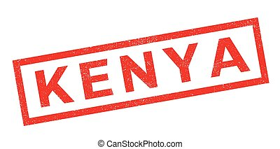 Kenya rubber stamp. Grunge design with dust scratches....