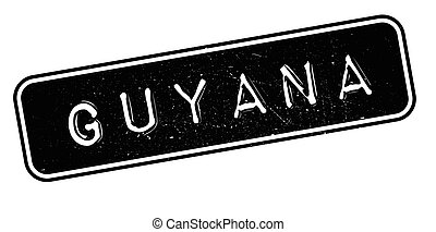 Guyana rubber stamp. Grunge design with dust scratches....