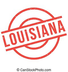 Louisiana rubber stamp. Grunge design with dust scratches....