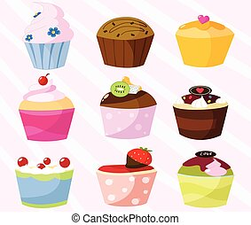 Sweet cupcakes collection