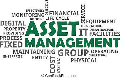 word cloud - asset management - A word cloud of asset...