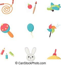 satz, heiligenbilder, groß,  symbol, Sammlung, Stil, vektor, abbildung, Spielzeuge, karikatur, Bestand