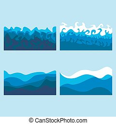 set of ocean waves billows of the sea