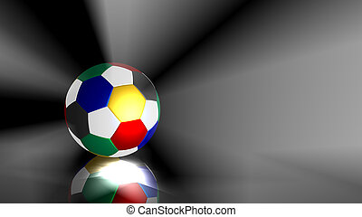 Multicolored soccer ball background
