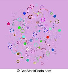 色, コミュニケーション, 技術, ネットワーク, 背景