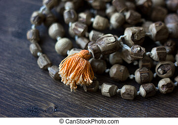 Japa mala rosary - hinduism and buddism rosary made from...