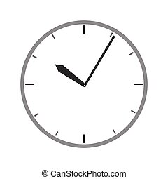 gray scale watch time device vector illustration