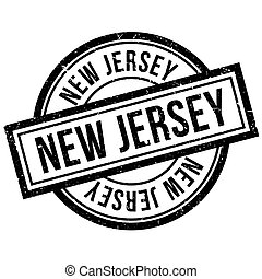 New Jersey rubber stamp. Grunge design with dust scratches....