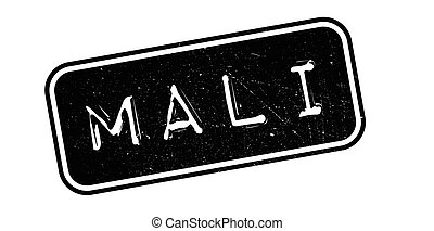Mali rubber stamp. Grunge design with dust scratches....