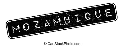 Mozambique rubber stamp. Grunge design with dust scratches....