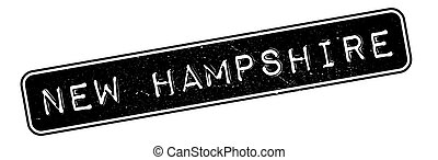 New Hampshire rubber stamp. Grunge design with dust...