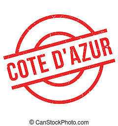 Cote D'Azur rubber stamp. Grunge design with dust scratches....