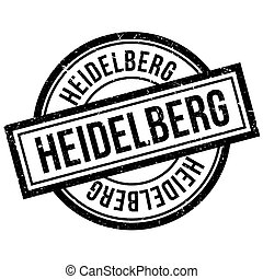 Heidelberg rubber stamp. Grunge design with dust scratches....