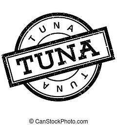 Tuna rubber stamp. Grunge design with dust scratches....