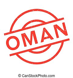 Oman rubber stamp. Grunge design with dust scratches....