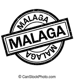 Malaga rubber stamp. Grunge design with dust scratches....