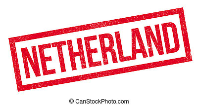 Netherland rubber stamp. Grunge design with dust scratches....