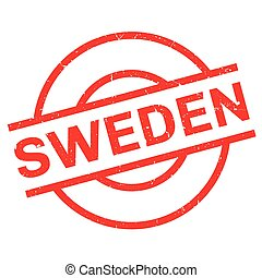 Sweden rubber stamp. Grunge design with dust scratches....