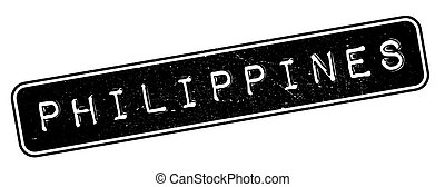 Philippines rubber stamp. Grunge design with dust scratches....