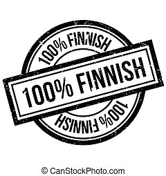 100 percent Finnish rubber stamp. Grunge design with dust...