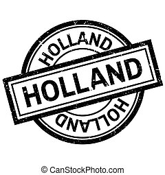 Holland rubber stamp. Grunge design with dust scratches....