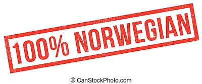 100 percent norwegian rubber stamp. Grunge design with dust...