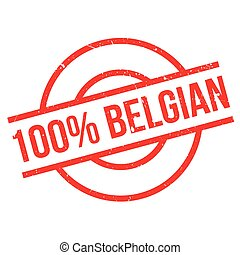100 percent Belgian rubber stamp. Grunge design with dust...