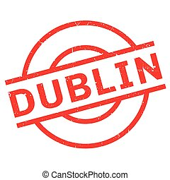 Dublin rubber stamp. Grunge design with dust scratches....