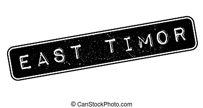 East Timor rubber stamp. Grunge design with dust scratches....