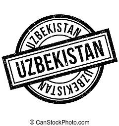 Uzbekistan rubber stamp. Grunge design with dust scratches....