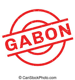 Gabon rubber stamp. Grunge design with dust scratches....