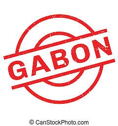 Gabon rubber stamp. Grunge design with dust scratches....