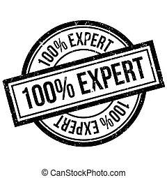 100 percent Expert rubber stamp. Grunge design with dust...