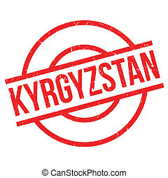 Kyrgyzstan rubber stamp. Grunge design with dust scratches....