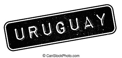 Uruguay rubber stamp. Grunge design with dust scratches....