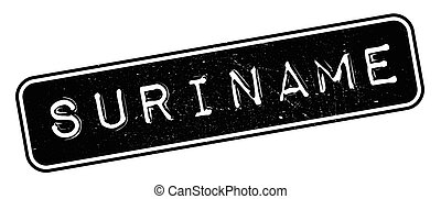Suriname rubber stamp. Grunge design with dust scratches....
