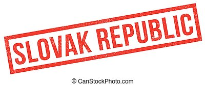 Slovak Republic rubber stamp. Grunge design with dust...