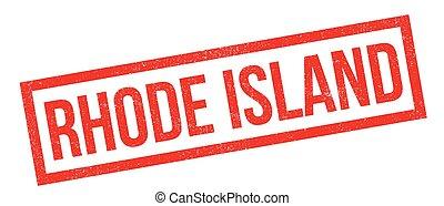Rhode Island rubber stamp. Grunge design with dust...