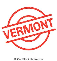 Vermont rubber stamp. Grunge design with dust scratches....