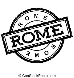 Rome rubber stamp. Grunge design with dust scratches....