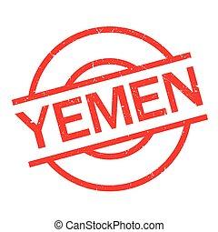 Yemen rubber stamp. Grunge design with dust scratches....
