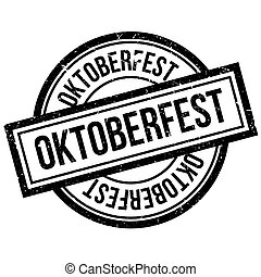 Oktoberfest rubber stamp. Grunge design with dust scratches....